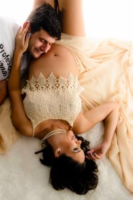 Romantismo na foto com tecido.