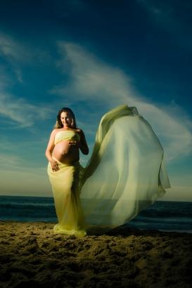 A transparência do tecido na praia dá um efeito lindo!